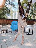 Женский вельветовый брючный костюм двойка со свободной рубашкой 71101118, фото 8