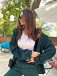 Женский вельветовый брючный костюм двойка со свободной рубашкой 71101118, фото 9