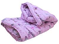 Розовое детское одеяло 145х215 см лебяжий пух для девочек