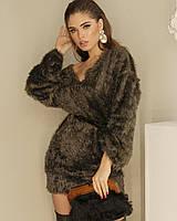 Платье-свитер женское AniTi 069, хаки