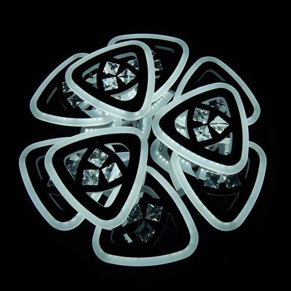 Потолочная ледовская люстра с пультом димер цвета белый черный серый коричнев 160W Линия солнца&6013/6+3