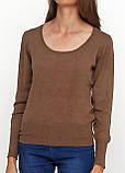 Женский джемпер коричневый CHD,L-XL, фото 3