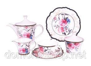 Lefard Камелия Сервиз чайный 15 предметов + 6 тарелок (935-013)