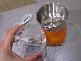 Электрическая Кофемолка Domotec KP-125 - Электроимпульсная кофемолка 180Вт из нержавеющей стали (R199), фото 2