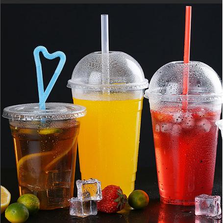 Пластикові склянки з кришкою купольної