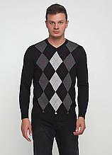 Чоловічий пуловер CHD чорно-сірий ,2XL-3XL