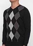 Мужской пуловер CHD черно-серый ,2XL-3XL, фото 3