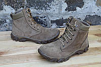 Берцы беж из натуральной кожи Armos ботинок