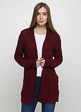 Жіночий кардиган бордовий CHD,XL, 2XL