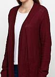 Женский кардиган бордовый CHD,L-XL, фото 3