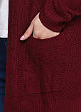 Женский кардиган бордовый CHD,L-XL, фото 4