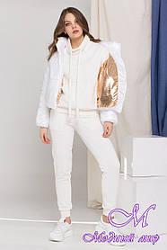 Жіноча демісезонна куртка біла (р. S, M, L) арт. Д-8989/45295
