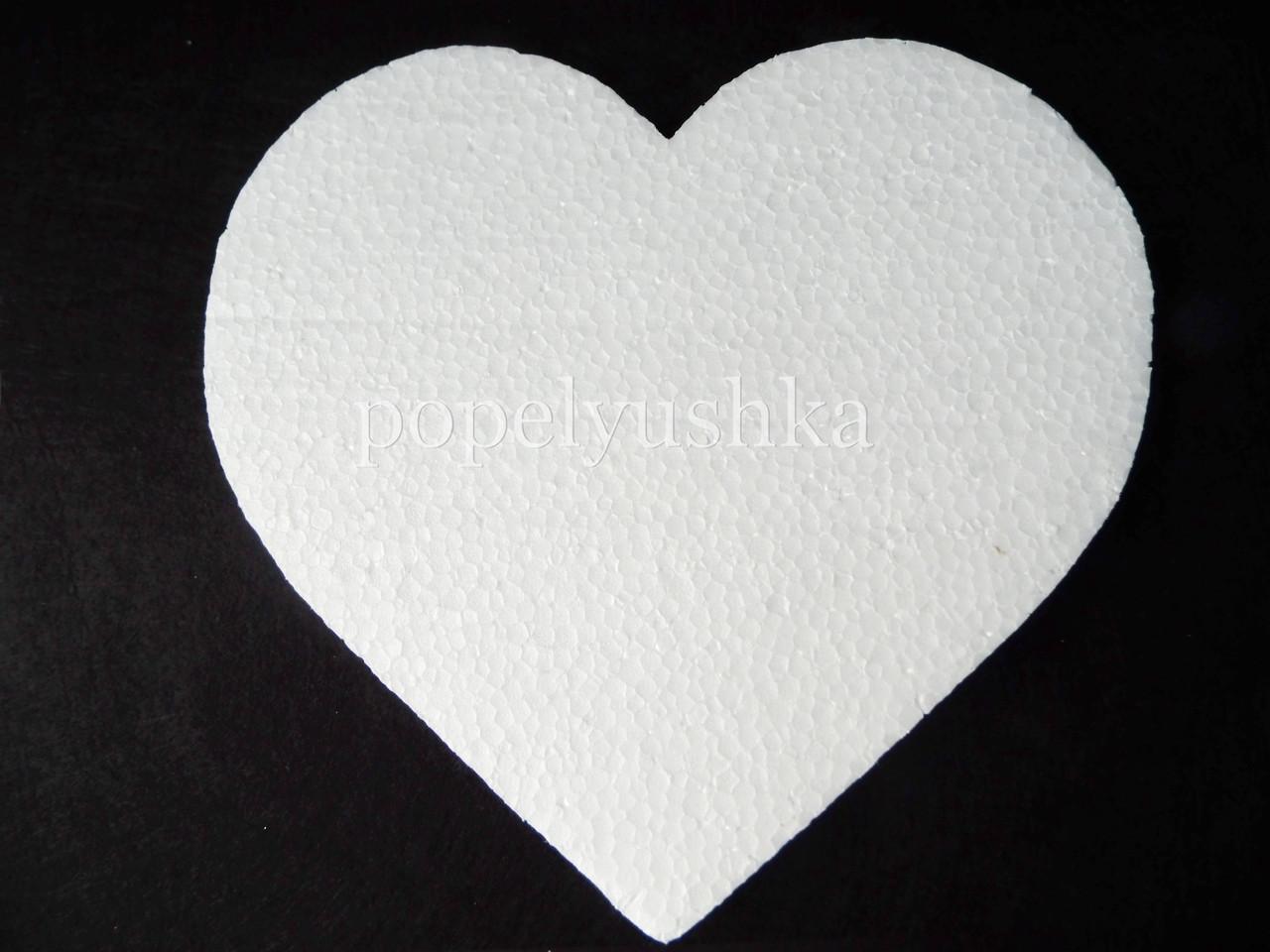 Пінопласт Серце плоске 19 см*2 см
