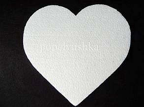 Пінопласт Серце плоске 15 см.