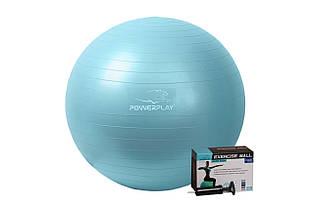 Мяч для фитнеса и гимнастики PowerPlay 4001 65см мятный + насос