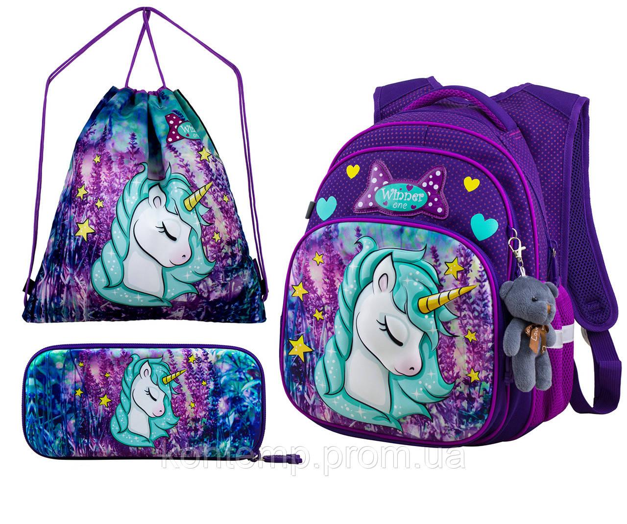 Рюкзак шкільний для дівчаток Winner One R3-222 Full Set