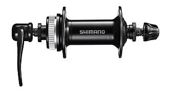 Втулка передня Shimano HB-TX505 QR 36H Center Lock чорна, ексцентрик