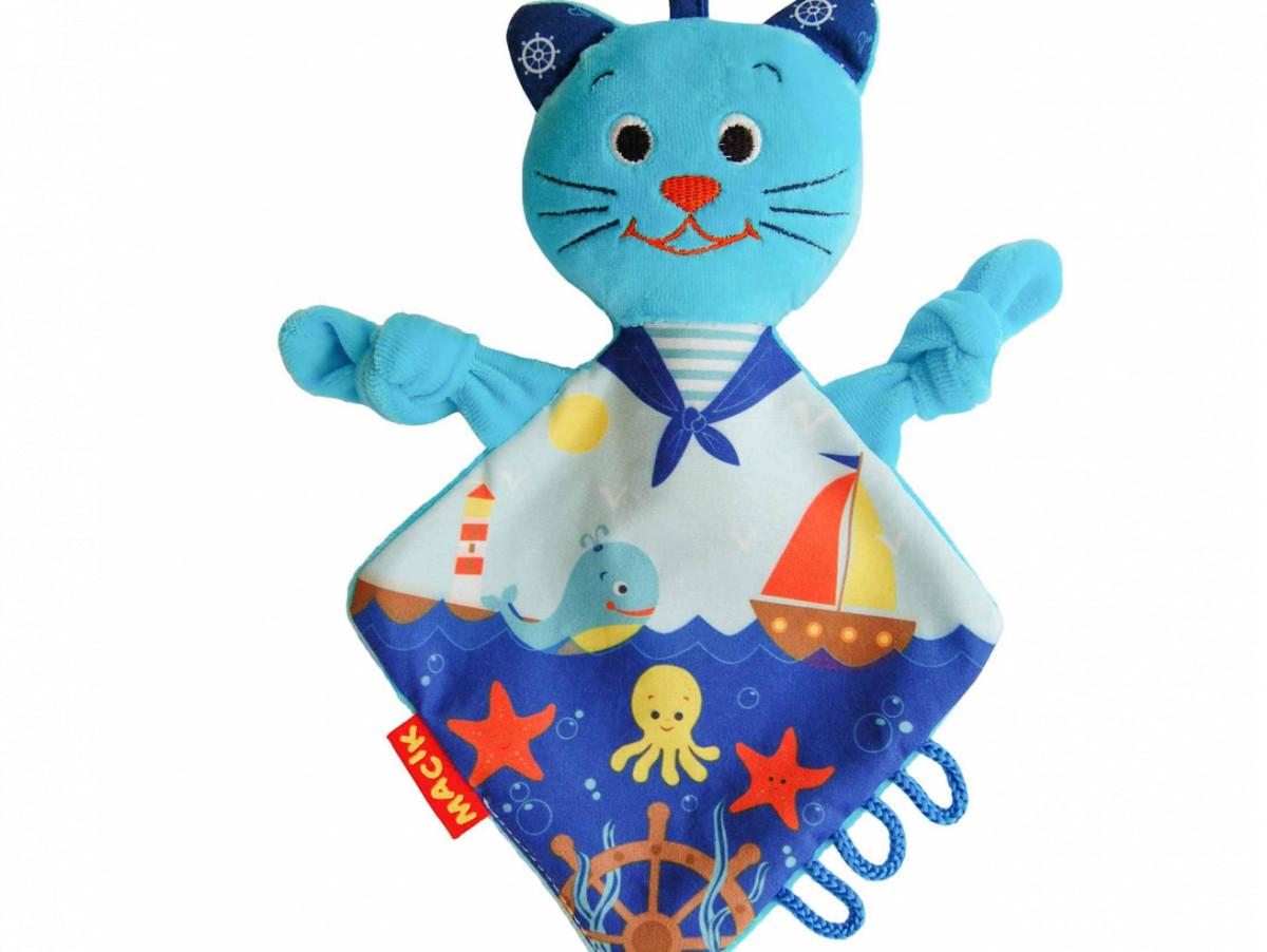 Мягкая игрушка комфортер обнимашка Кот моряк, Macik (МС 110604-03)