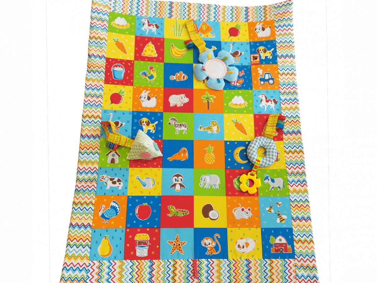Развивающий игровой коврик с игрушками-подвесками для малышей, Macik (MC 040201-05)