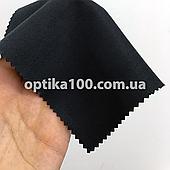 Черная салфетка микрофибра для оптики, очков, телефонов, экранов