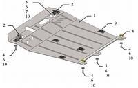 Защита двигателя Peugeot 4008 2012-