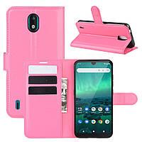 Чехол Luxury для Nokia 1.3 книжка розовый