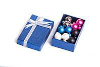 Набор серьги шары Dior цвет белый, голубой, черный, темно-розовый матовый, золотой металлик/набор