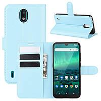 Чехол Luxury для Nokia 1.3 книжка голубой