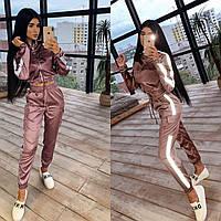 Костюм женский из шелка бомбер и брюки карго со светоотражающими элементами Db2871