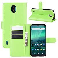 Чехол Luxury для Nokia 1.3 книжка зеленый