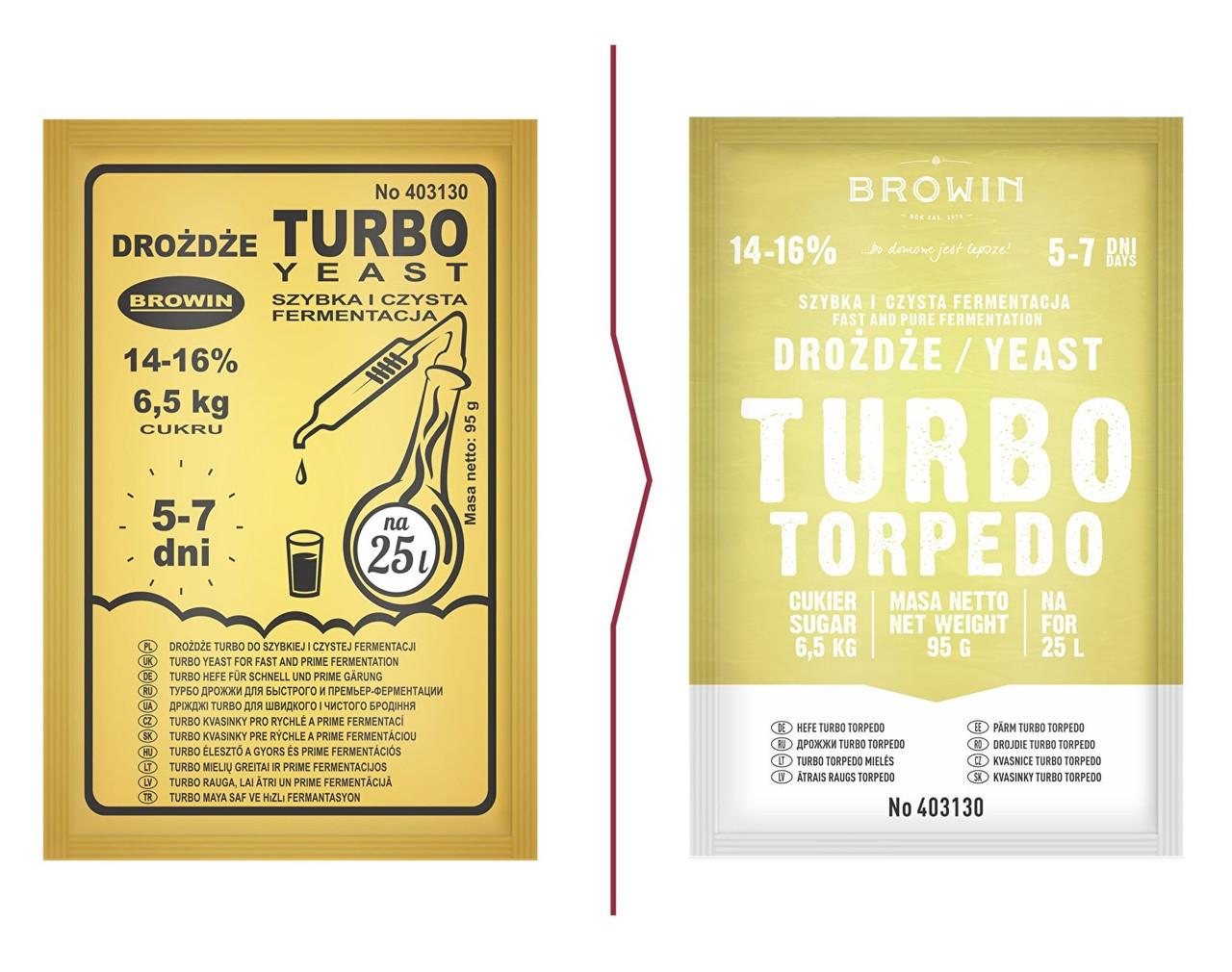 Дріжджі Turbo TORPEDO 5-7 днів Biowin , 95g (403130 )