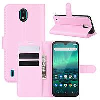 Чехол Luxury для Nokia 1.3 книжка светло-розовый