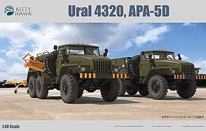 Урал 4320 и АПА-5Д на базе Урал. 2 сборные модели военных автомобилей в масштабе 1/48. KITTY HAWK KH80159