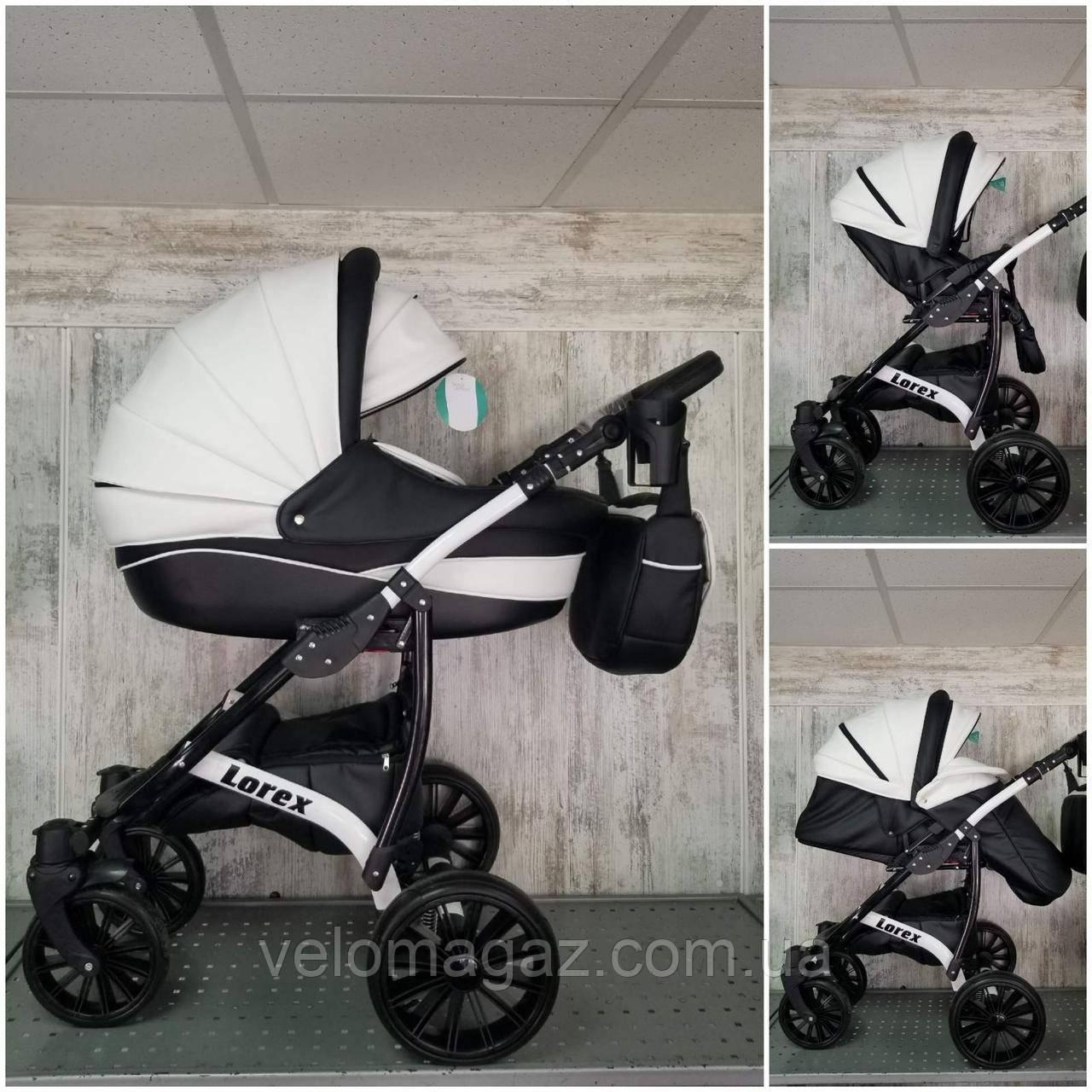 """Универсальная всесезонная детская коляска 2 в 1 """"Lorex"""". дождевик, москитка, сумка"""