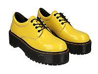 Туфли женские кожаные Wright MARTINS TUF размер 38 желтые