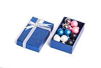 Набор серьги шары Dior цвет белый, розовый, голубой, черный матовый, золотой металлик/набор