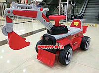 Детский электромобиль Трактор с подвижным ковшом и подсветкой Bambi M М 4144L красный для детей от 2 до 5 лет