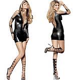 Зажигательное мини-платье в шнуровке черного цвета, фото 4