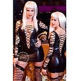 Зажигательное мини-платье в шнуровке черного цвета, фото 2
