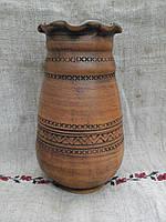 Глиняна ваза для квітів 1,3л