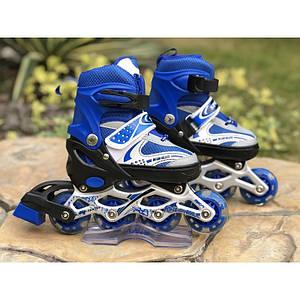 Ролики Sports 129B синий