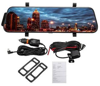 """Сенсорное зеркало видеорегистратор L900 9.6"""" Inch Screen 1080р с камерой заднего вида"""