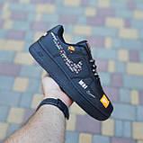 🔥 Мужские кроссовки повседневные Nike Air Force 1 x Off-White Low Just Do It Pack Чёрные (найк аирфорс), фото 7