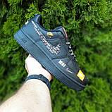🔥 Мужские кроссовки повседневные Nike Air Force 1 x Off-White Low Just Do It Pack Чёрные (найк аирфорс), фото 9