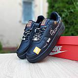 🔥 Мужские кроссовки повседневные Nike Air Force 1 x Off-White Low Just Do It Pack Чёрные (найк аирфорс), фото 2