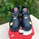 🔥 Мужские кроссовки повседневные Nike Air Force 1 x Off-White Low Just Do It Pack Чёрные (найк аирфорс), фото 10