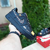 🔥 Мужские кроссовки повседневные Nike Air Force 1 x Off-White Low Just Do It Pack Чёрные (найк аирфорс), фото 6