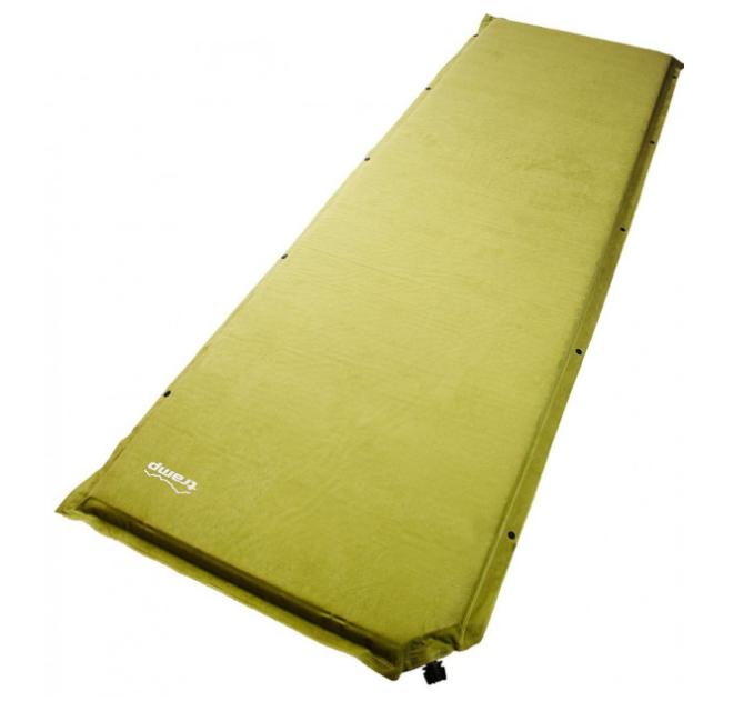 Самонадувающийся туристический коврик Tramp TRI-015, 3 см Green