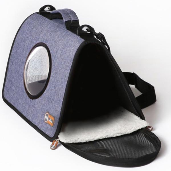 Сумка-переноска для собак и кошек K&H Lookout синяя 27х43x23 см