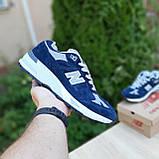 🔥 Мужские кроссовки повседневные New Balance 991 Синие замша (нью беланс), фото 2